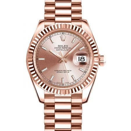 Rolex Datejust 178275 31mm Relógio De Ouro Everose 18k Rosa - keeperwatches