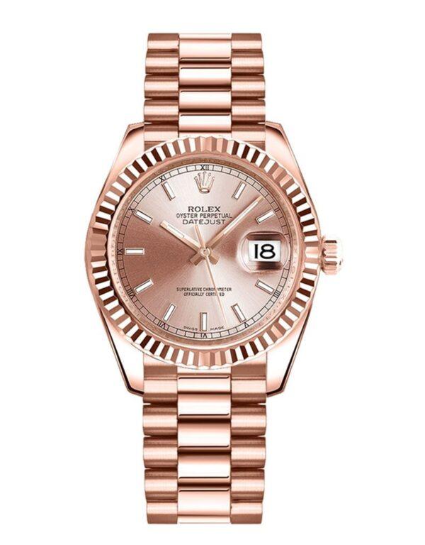 Rolex Datejust 178275 31mm Relógio De Ouro Everose 18k Rosa - keeperwatches
