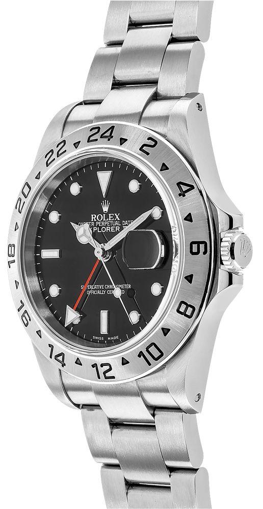 Rolex Explorer Ii 16570 40 Mm 904l Oystersteel Relógio De Aço Inoxidável - keeperwatches