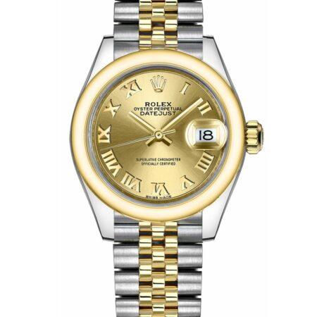 Rolex Datejust 279163 28Mm Relógio de aço inoxidável 904l Champagne - keeperwatches