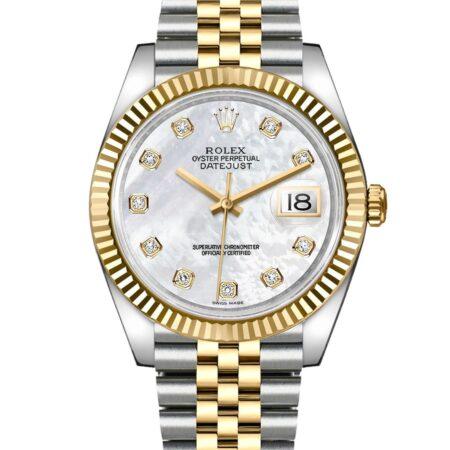 Rolex Datejust 126333 41mm Com caixa de relógio 904L em aço inoxidável Oystersteel - keeperwatches