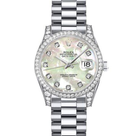 Rolex Datejust 179159 26mm Com relógio de caixa em ouro branco 18k - keeperwatches