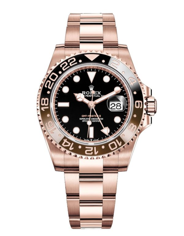 Rolex GMT Master II 126715CHNR 40mm Com Relógio Everose Gold 18k- keeperwatches