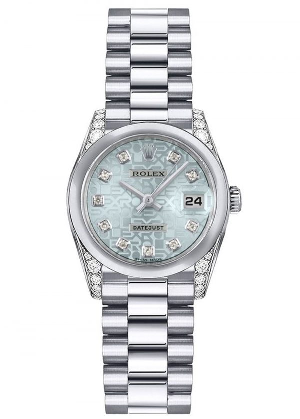 Rolex Datejust 179296 26mm Com relógio de caixa Platinum- keeperwatches