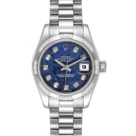 Rolex Datejust 179369 26mm Relógio De Caixa Em Ouro Branco 18k - keeperwatches
