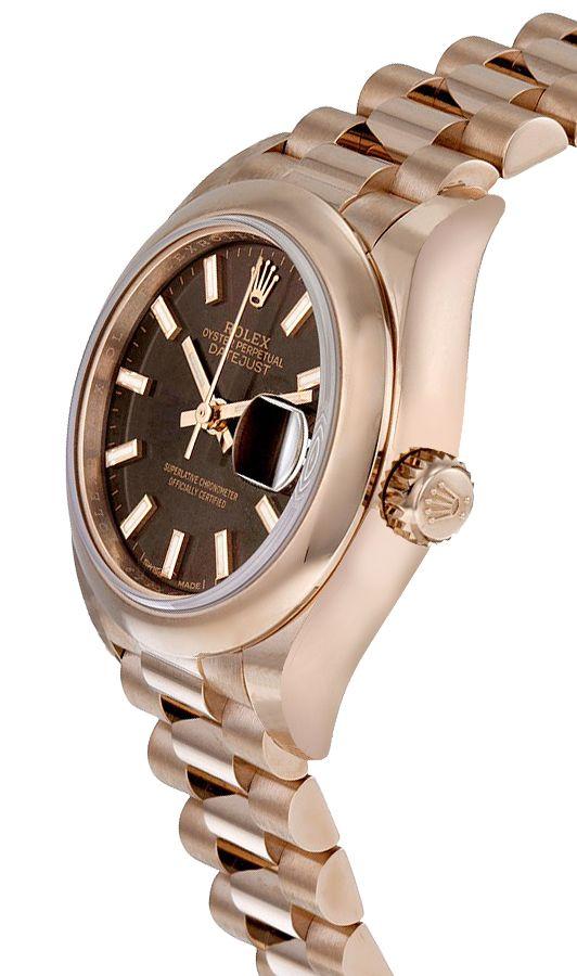 Rolex Datejust 279165 28mm Com Caixa Para Relógio Everose Gold 18k - keeperwatches