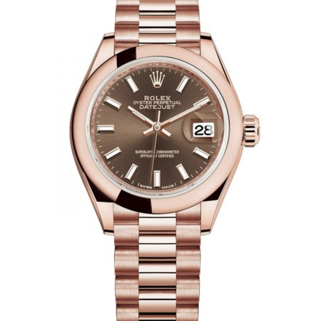 Rolex Datejust 279165 28mm Com Caixa Para Relógio Everose Gold 18k - keeperwatches