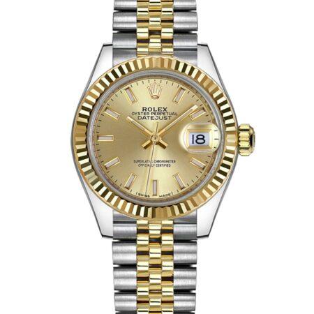 Rolex Datejust 279173 28mm Relógio De Caixa De Aço Inoxidável Oystersteel - keeperwatches