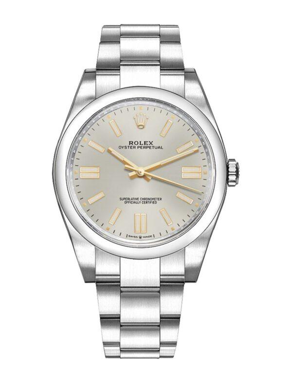 Rolex Oyster Perpetual 124300 41mm Com caixa de relógio de aço inoxidável 904L Oystersteel - keeperwatches
